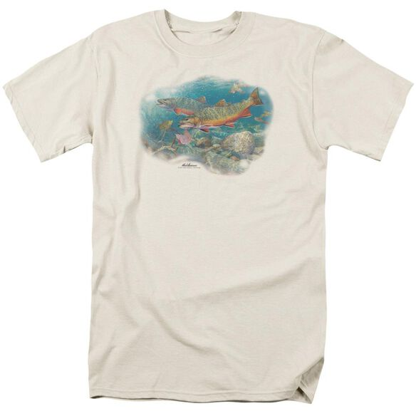 Wildlife Easy Pickings Trout Short Sleeve Adult Cream T-Shirt
