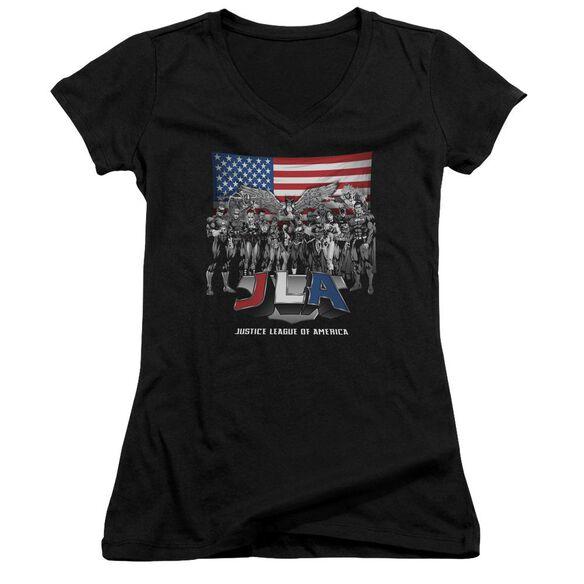 Jla All American League Junior V Neck T-Shirt