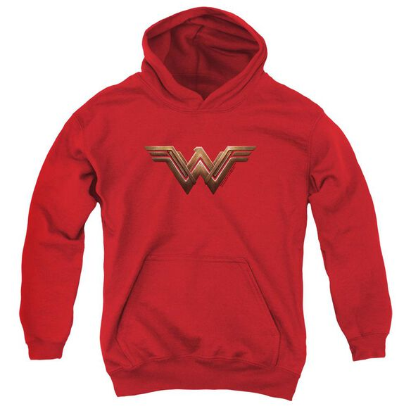 Wonder Woman Movie Wonder Woman Logo Youth Pull Over Hoodie