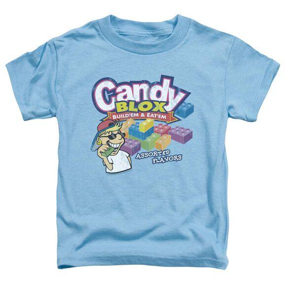 Dubble Bubble Candy Blox Short Sleeve Toddler Tee Carolina Blue Sm T-Shirt