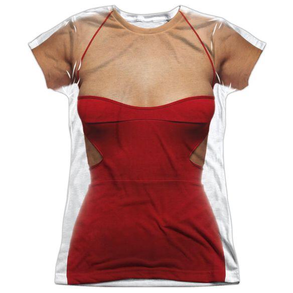 Bsg (New) Red Dress Short Sleeve Junior Poly Crew T-Shirt