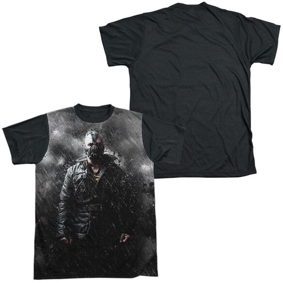 Dark Knight Rises Bane In Rain Short Sleeve Adult Front Black Back T-Shirt