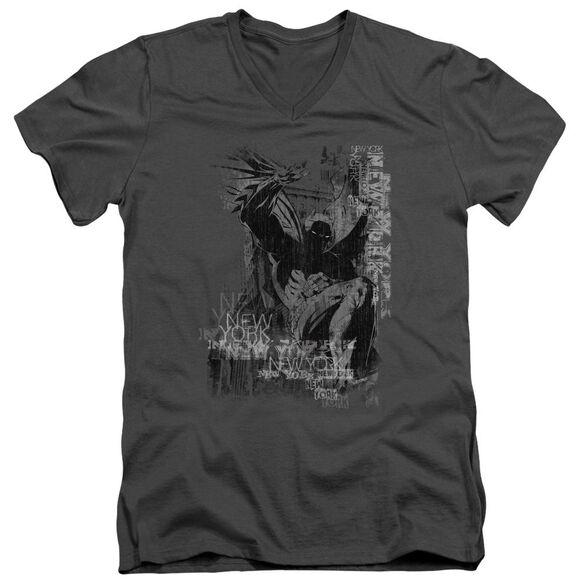 Batman The Knight Life Short Sleeve Adult V Neck T-Shirt