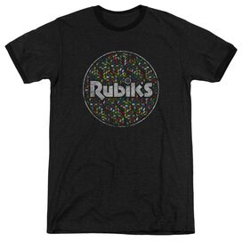 Rubiks Cube Circle Pattern Adult Heather Ringer