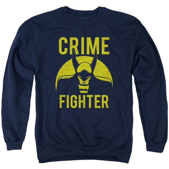 Dc Fight Crime Adult Crewneck Sweatshirt
