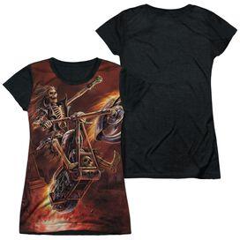 Anne Stokes Hellrider Short Sleeve Junior Poly Black Back T-Shirt