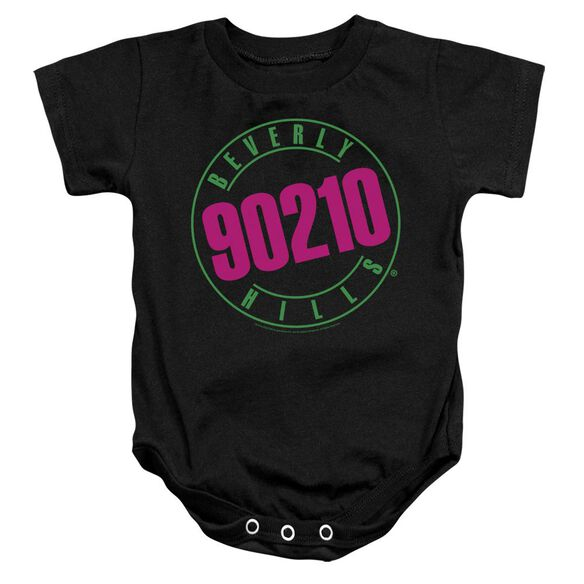 90210 Neon Infant Snapsuit Black