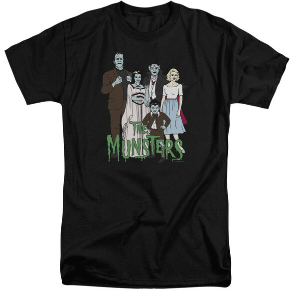 The Munsters The Family Short Sleeve Adult Tall T-Shirt