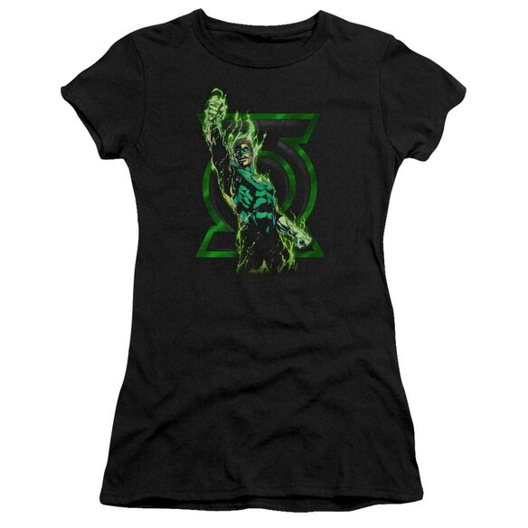 Green Lantern Fully Charged Short Sleeve Junior Sheer T-Shirt