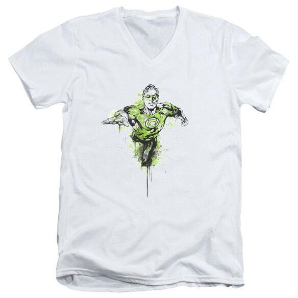 Green Lantern Inked Short Sleeve Adult V Neck T-Shirt