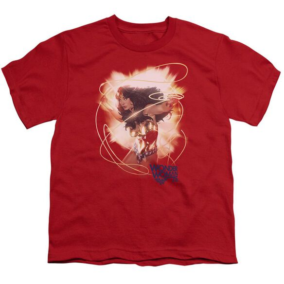 Wonder Woman 75 Th Burst Short Sleeve Youth T-Shirt