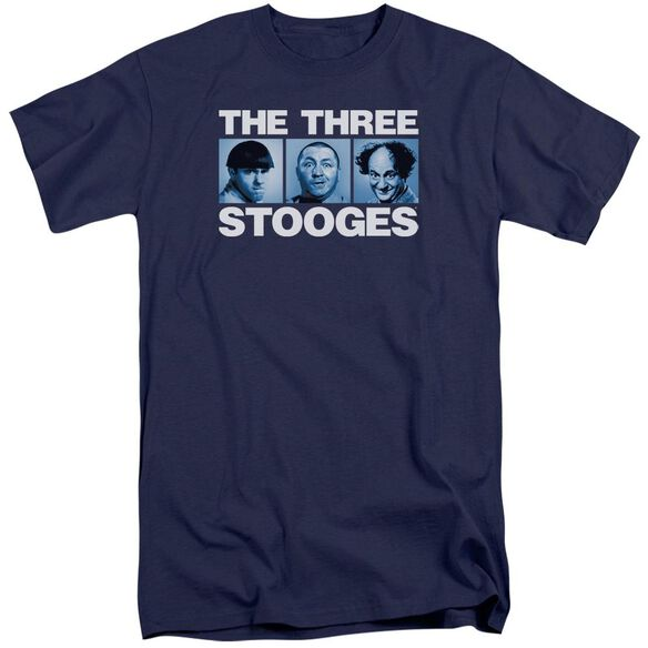 Three Stooges Three Squares Short Sleeve Adult Tall T-Shirt