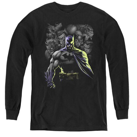 Batman Villains Unleashed - Youth Long Sleeve Tee - Black