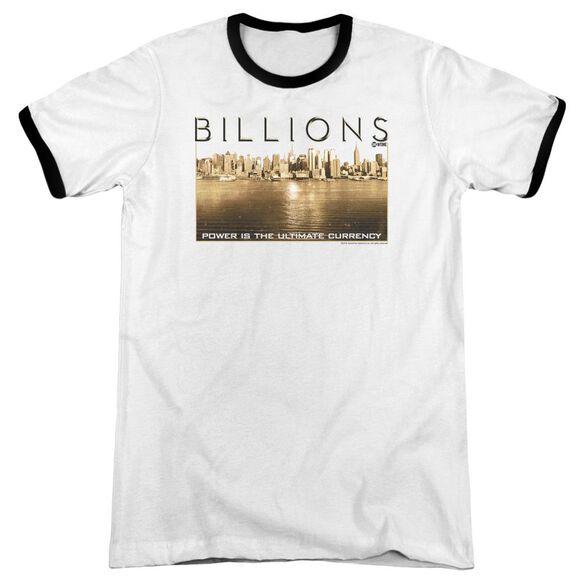 Billions Golden City Adult Ringer White Black