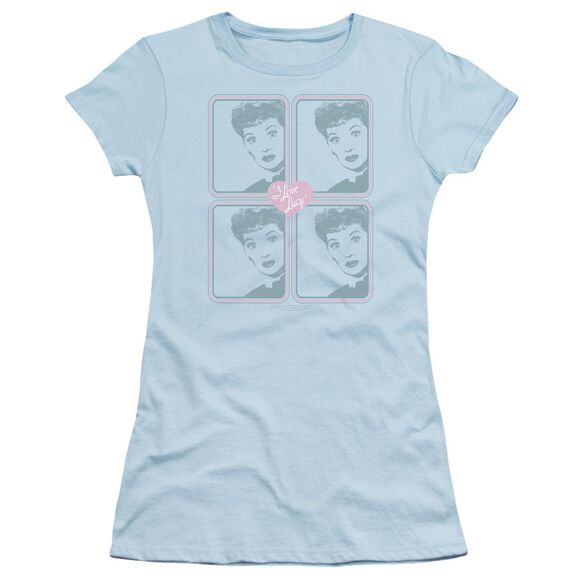 I Love Lucy Lucy Squared Short Sleeve Junior Sheer Light T-Shirt