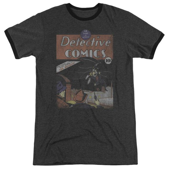 Dc Detective #27 Distressed Adult Heather Ringer Charcoal