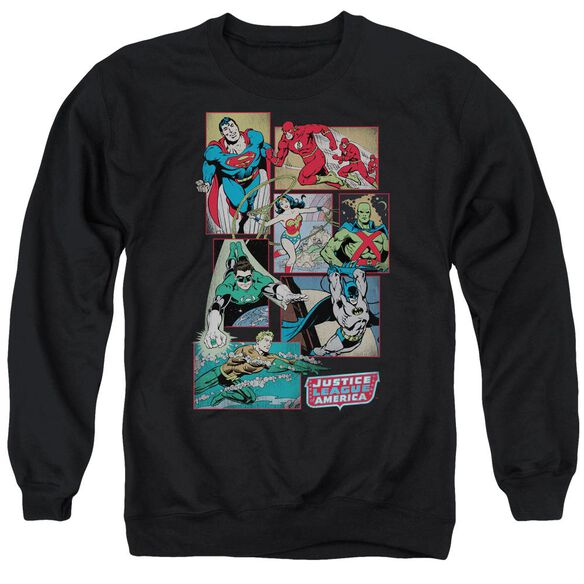 Dc Justice League Boxes Adult Crewneck Sweatshirt