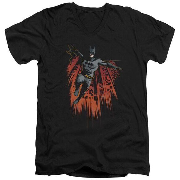Batman Majestic Short Sleeve Adult V Neck T-Shirt