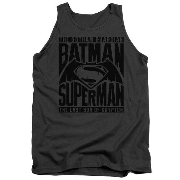 Batman V Superman Title Fight Adult Tank