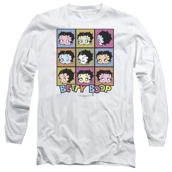 Betty Boop She's Got The Look Long Sleeve Adult T-Shirt