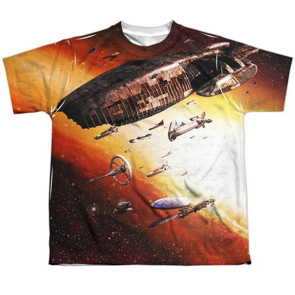 Bsg (New) Fleet Of Humanity Short Sleeve Youth Poly Crew T-Shirt