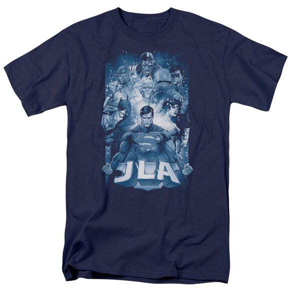 Jla Burst Short Sleeve Adult T-Shirt
