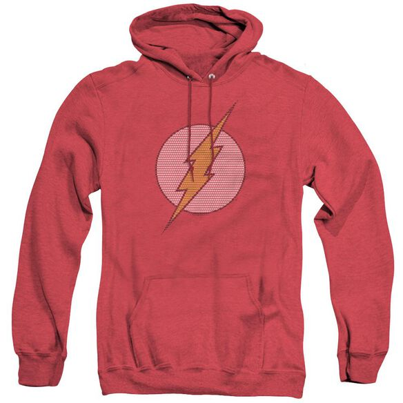 Dc Flash Flash Little Logos - Adult Heather Hoodie - Red