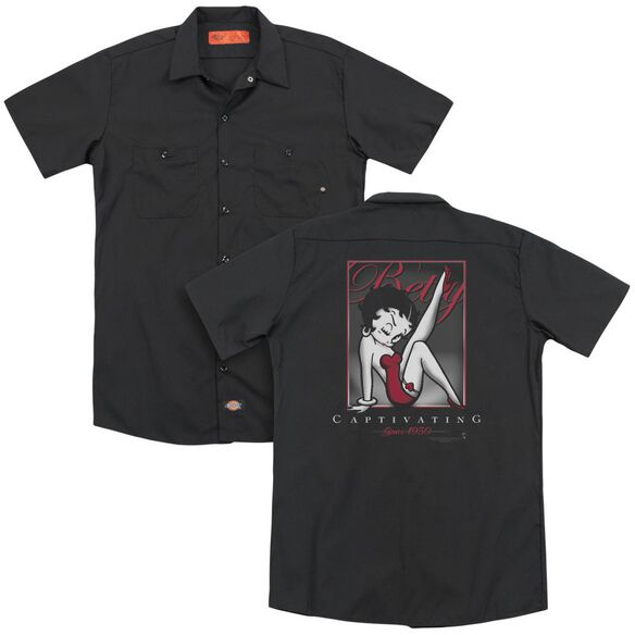 Betty Boop Captivating (Back Print) Adult Work Shirt