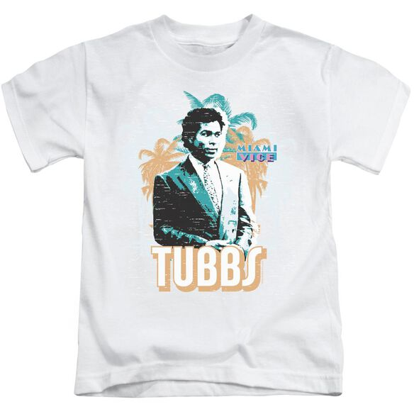 Miami Vice Tubbs Short Sleeve Juvenile White Md T-Shirt