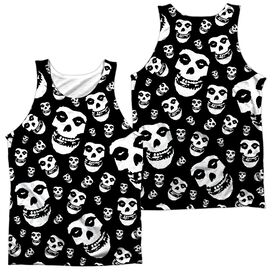 Misfits Fiends All Over (Front Back Print) Adult Poly Tank Top