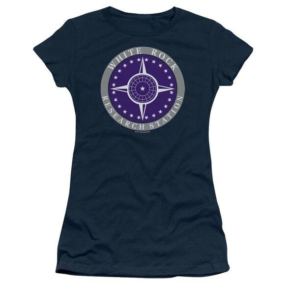 Sg1 White Rock Logo Short Sleeve Junior Sheer T-Shirt