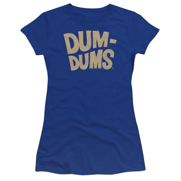 Dum Dums Distressed Logo Premium Bella Junior Sheer Jersey Royal