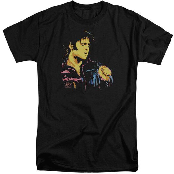 Elvis Neon Elvis Short Sleeve Adult Tall T-Shirt