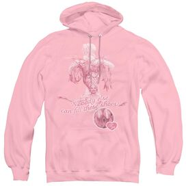I LOVE LUCY NOBODY ELSE - ADULT PULL-OVER HOODIE - PINK