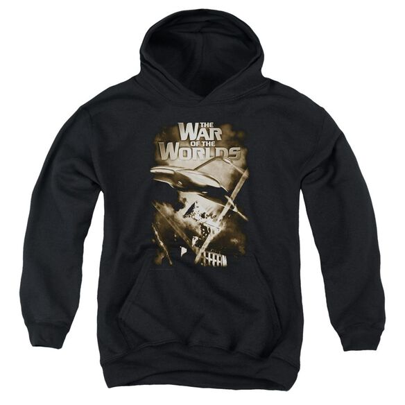 War Of The Worlds Death Rays Youth Pull Over Hoodie