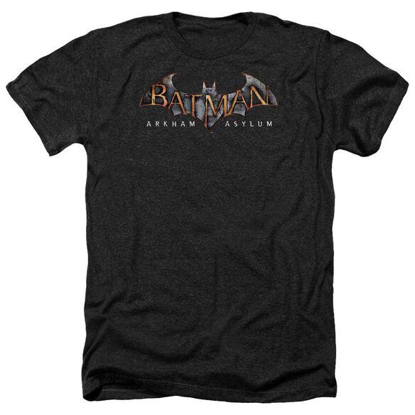 Batman Aa Arkham Asylum Logo Adult Heather