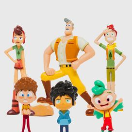 Camp Camp Collectible Mini Figure 6 Pack
