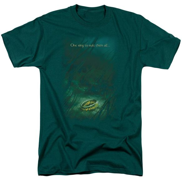 Lor Lost Ring Short Sleeve Adult Hunter Green T-Shirt