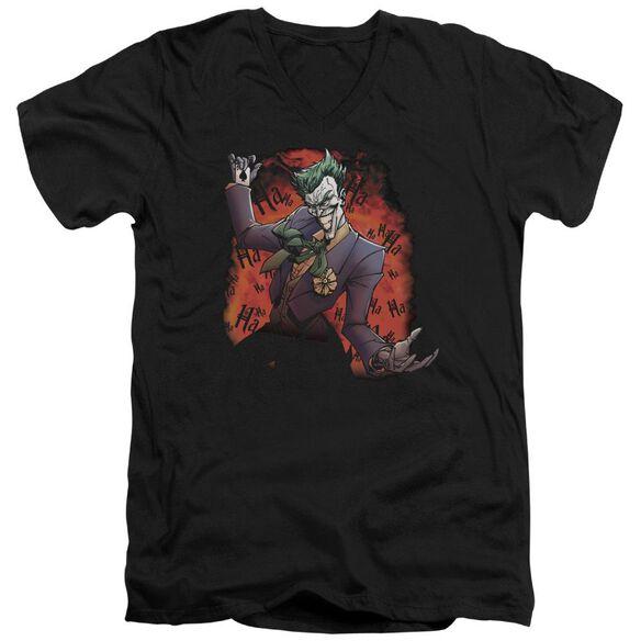 Batman Joker's Ave Short Sleeve Adult V Neck T-Shirt