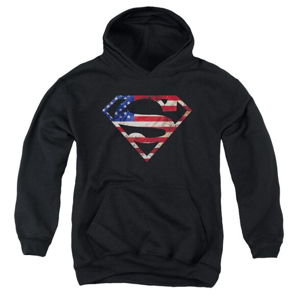 Superman Super Patriot Youth Pull Over Hoodie