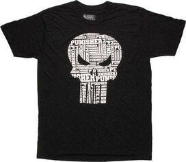 Punisher Repeat Offender Skull Logo T-Shirt
