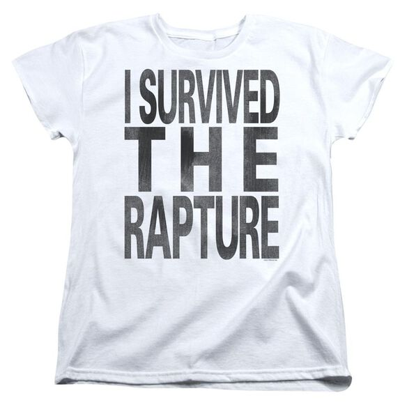 I Survived The Rapture Short Sleeve Womens Tee T-Shirt