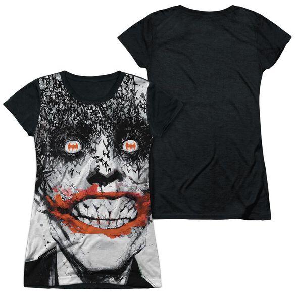 Batman Bats On The Brain Short Sleeve Junior Poly Black Back T-Shirt