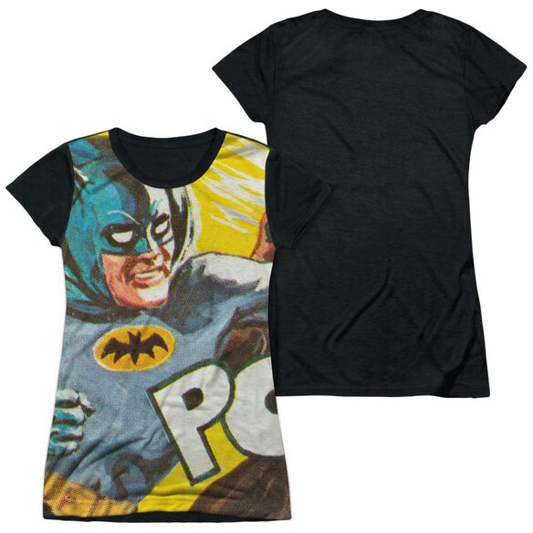 Batman Classic Tv On The Chin Short Sleeve Junior Poly Black Back T-Shirt