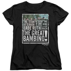 Sandlot The Great Bambino Short Sleeve Womens Tee T Shirt