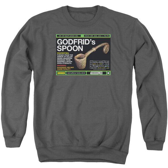 Warehouse 13 Godfrid Spoon Adult Crewneck Sweatshirt