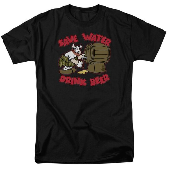 Hagar The Horrible Save Water Drink Beer Short Sleeve Adult T-Shirt
