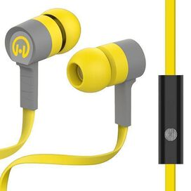 HyperGear Low Ryder Earphones with Mic (Yellow/Grey)