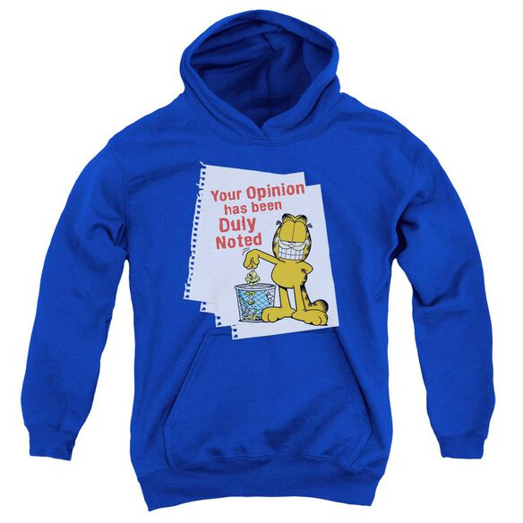 Garfield Duly Noted Youth Pull Over Hoodie