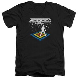SATURDAY NIGHT FEVER SHOULD BE DANCING - S/S ADULT V-NECK - BLACK T-Shirt
